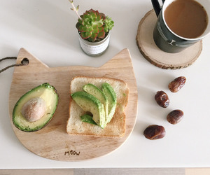 coffee, avocado, and fit image