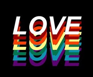 love, gay, and rainbow image