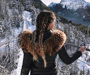 winter, hair, and girl image
