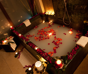 romantic, bath, and candle image