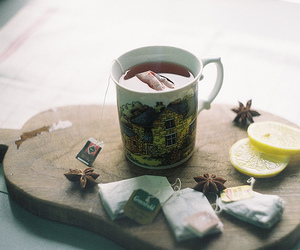 tea, vintage, and lemon image