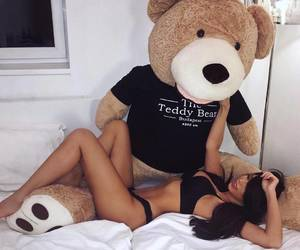 girl and teddy bear image