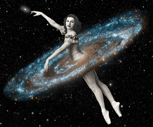 ballet, Collage, and cosmic image