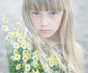 flower, girl, and ًورد image
