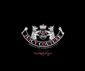 black, juicy couture, and Logo image