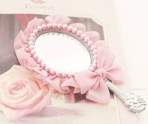 pink, mirror, and girly image