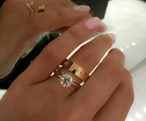 cartier, diamond, and hands image