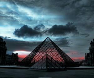 paris, sky, and louvre image