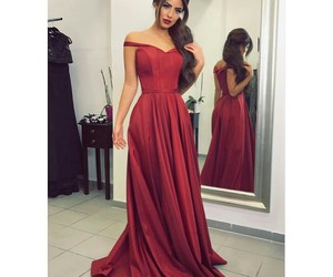 long dress, luxury, and red dress image