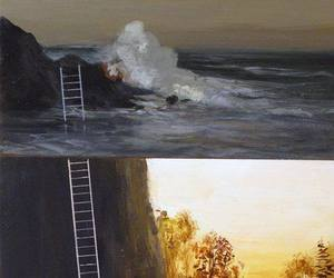 art, painting, and tree image
