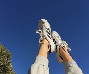 adidas, shoes, and sky image