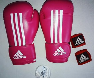 adidas, boxing, and boxing gloves image