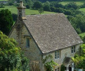 britain, cotswolds, and rose cottage image