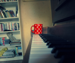 cup, room, and piano image