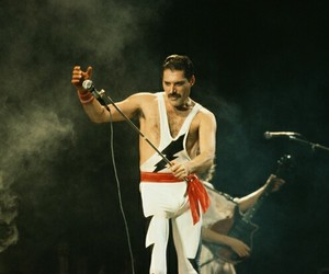 band, stage, and Freddie Mercury image