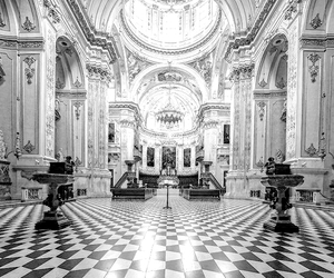 architecture, black and white, and decor image