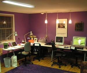 apartment, decoration, and home office image