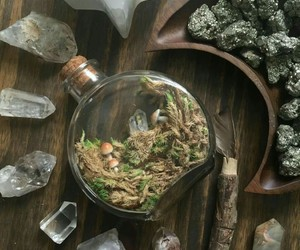 crystals, herbs, and magic image