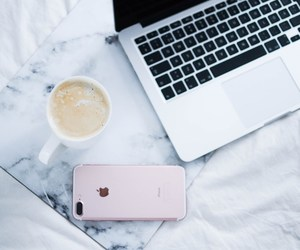 bed, coffee, and fashion image