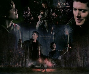 fireworks, spn, and supernatural image