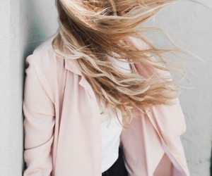 blonde, wind, and faceless image