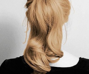 faceless, blonde, and hair image