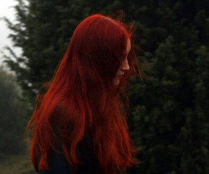 hair, red hair, and red image