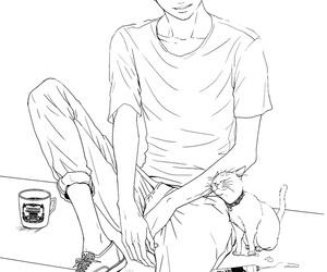 boy, draw, and manga image