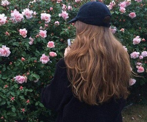 fashion, flowers, and hairstyle image