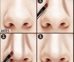 beauty, makeup tutorial, and nose contour image