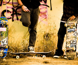 photography, skate, and boy image