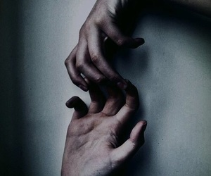 dark, hands, and hold on image
