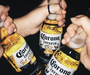 alcohol, alcoholic, and corona image