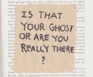 quote, book, and ghost image