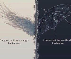 angel, Devil, and human image