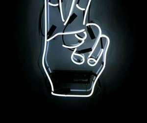 neon, light, and peace image