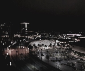 city, light, and dark image