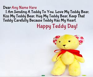 Teddy Bear Name Generator Write Name On Cakes Bracelets Jewellery