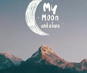 wallpaper, moon, and stars image