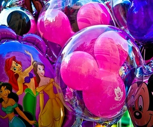 disney, balloons, and princess image