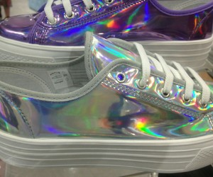 shoes, grunge, and holographic image