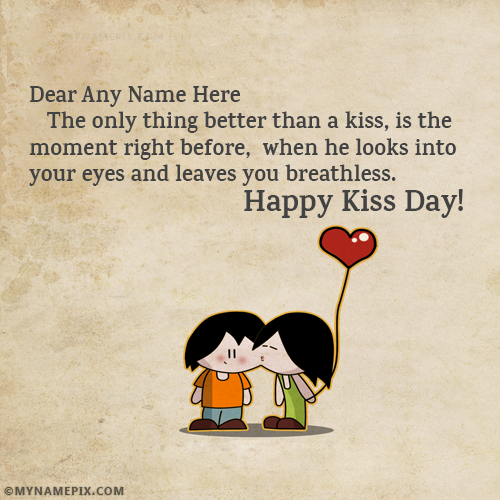 Kiss Of Love Happy Kiss Day Quotes With Name on We Heart It