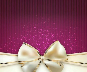 background, bow, and glitter image