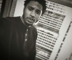 black and white and trey songz image