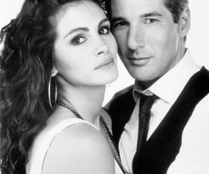 black and white, 90s hollywood, and couple image