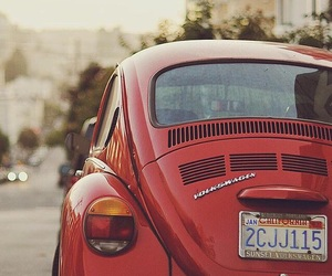 car, red, and vintage image