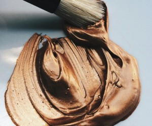 art, paintbrush, and coppercolor image
