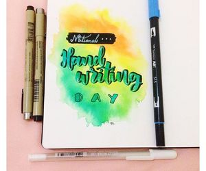 art, brush lettering, and quotes image