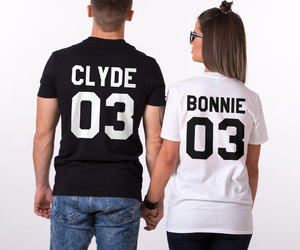 fashion, couple goals, and bonnie clyde shirt image