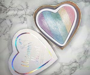 makeup, rainbow, and beauty image